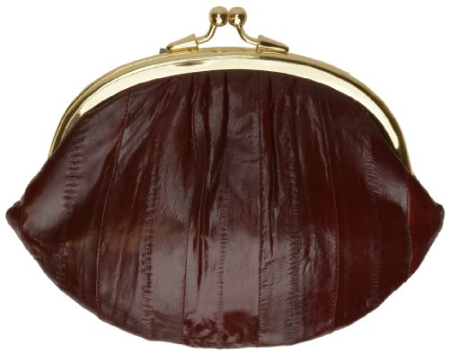 Double Eel Skin Change Purse style - eelskchpudo (Burgundy) by Marshal