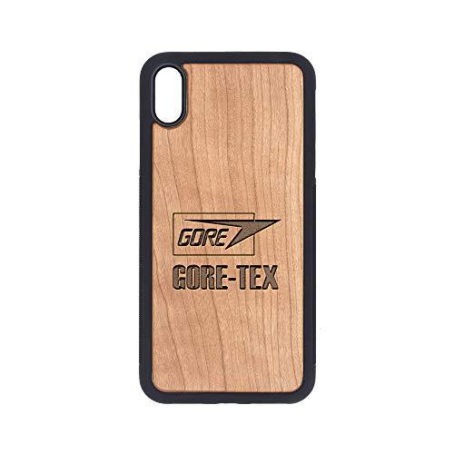 (Logo Gore TEX - iPhone Xs MAX Case - Cherry Premium Slim & Lightweight Traveler Wooden Protective Phone Case - Unique, Stylish & Eco-Friendly - Designed for iPhone Xs MAX)