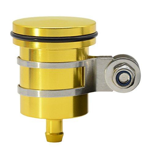 CNC Aluminum Oil Cup Front or Rear Brake Fluid Reservoir For Honda CBR 125R 150R 250R 300R 400R 500R 600F 600RR 900RR 1000F 1000RR 1100XXSuper Blackbird CB1000R -Gold
