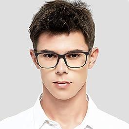 Blue Light Blocking Glasses, Anti Eyestrain Computer Gaming Eyeglasses for Men & Women