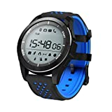 Liperkin Smart Watch, Fitness Tracker IP68 Waterproof Sleep Monitor Wrist,with Remote Camera Pedometer Altimeter Barometer, for Men Women Kids,Compatible with Andriod & iOS. (Blue)