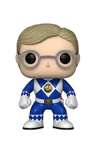 Funko Pop Television: Power Rangers - Blue Ranger (No Helmet) Collectible Figure, Multicolor (Blue Ranger Helmet)