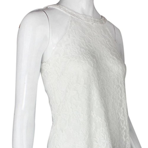 Lace Estive Sleeveless Casual Sexy Camicia Loose Pizzo Tank Sexy di Donna Shirt Senza Top Vest Summer Women Maniche Moda Casuale Bianco Pizzo Gilet Rovinci Blouse Top Gilet nnpExZzqr