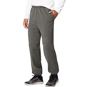 Hanes Men's Ultimate Cotton Fleece Pant,Charcoal Heather,Large