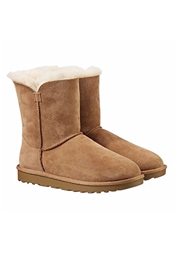 KirklandSignature Ladies Genuine Sheepskin - Shearling Lining - Zipper Boots for Women Chestnut (8)