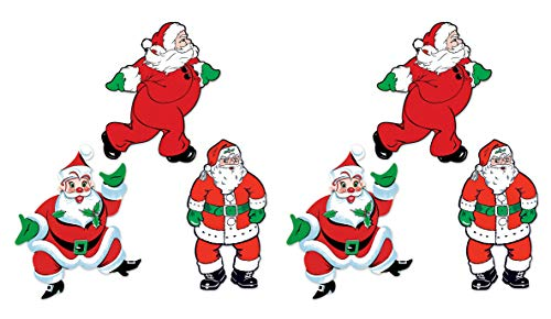 Beistle 20057 Vintage Christmas Santa Cutouts, 18
