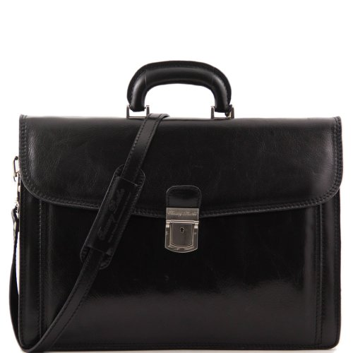 Tuscany Leather - Cartable cuir - Noir - Homme