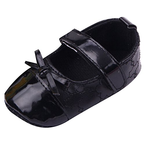 Highdas Baby-Mary Jane Schuhe - Anti-Rutsch / Soft Bottom Schwarz