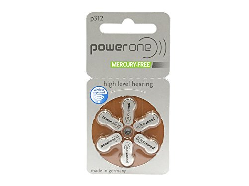 PowerOne Size 312 Hearing Aid Batteries - 30 count by Power One