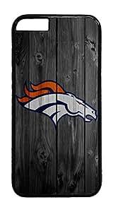 iPhone 6 Plus Case, iPhone 6 Plus Cases - Wood Denver Broncos Black PC Plastic Bumper Hardshell Snap-on Case for iPhone 6 Plus 5.5 Inch