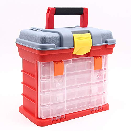 Portable Small Parts Tool Box Organizer Compartment Storage Container 4 Drawers