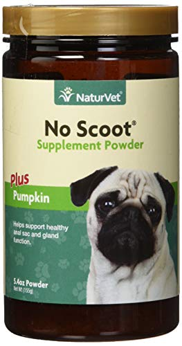 (NaturVet - No Scoot for Dogs - Plus Pumpkin - Supports Healthy Anal Gland & Bowel Function - Enhanced with Beet Pulp, Flaxseed & Psyllium Husk - 155g)