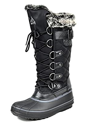 ARCTIV8 AVALANCHE Women's Winter Insulated Faux Fur Lining Cozy Warm Water Resistant Snow Boots