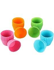 Bakerpan Silicone Mini Cupcake Holders, Mini Cupcake Liners, Pastry & Dessert Cups, 24