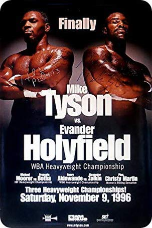(Uptell Metal Wall Sign Mike Tyson Evander Holyfield Poster Classic Box Fight Decor Bed Garage Vintage)
