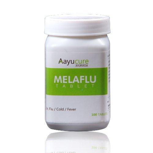 Aayucure Melaflu Tablets - 100 Tablets (Ayurvedic Medicine For Cough, Cold  & Fever