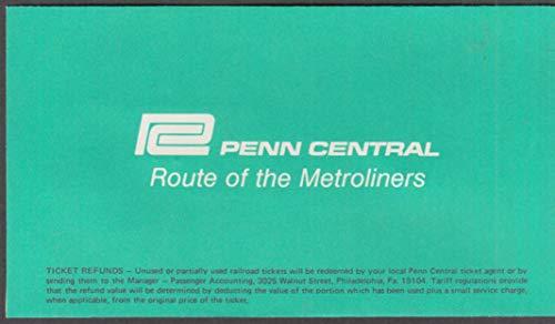 - Penn Central Railroad ticket envelope & ticket Hartford-New York 1975