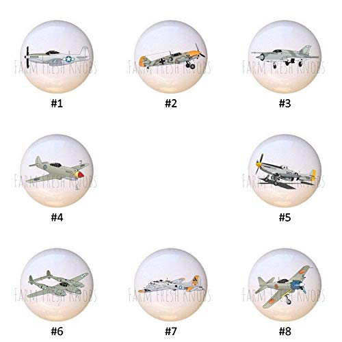 Military Aircraft by SVG Airplane DECORATIVE Drawer Pulls Dresser KNOBS