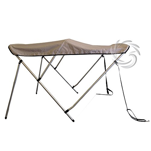Innocessories® 6ft Long Grey 600D Polyester 3 Bow - Bimini Tops For Boats