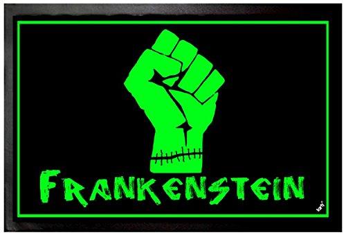 1art1® Frankenstein Door Mat Floor Mat - Fist (24 x 16 (Frankenstein Halloween Door)