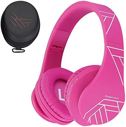PowerLocus Kids Headphones Over-Ear, Bluetooth Wireless Headphones for Kids,with Microphone, Safe 85DB Volume Limited, Foldable with Carry Case, Audio Cable, Micro SD mode for Online Classes,PC,Phones