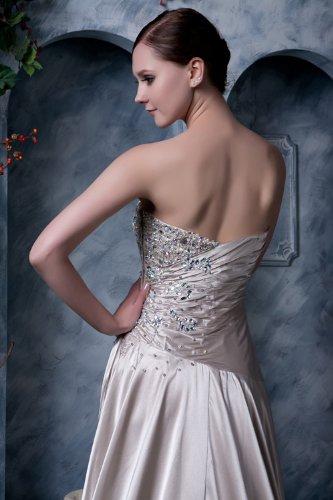 GEORGE verziert mit BRIDE Neu satin Sekt Perlen traegerlosen Elegante Lange Abendkleid 484qw1rfx
