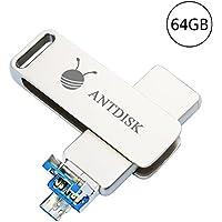 USB Storage Flash Drive AntDisk 3.0 Flash Drive 64GB Memory Stick(64GB)