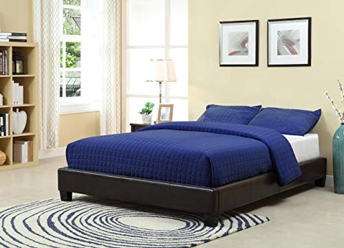 - Modus Furniture Ledge Upholstered Platform Bed, Chocolate, Queen