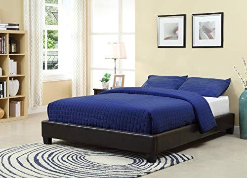 Modus Furniture Ledge Upholstered Platform Bed, Chocolate, Q