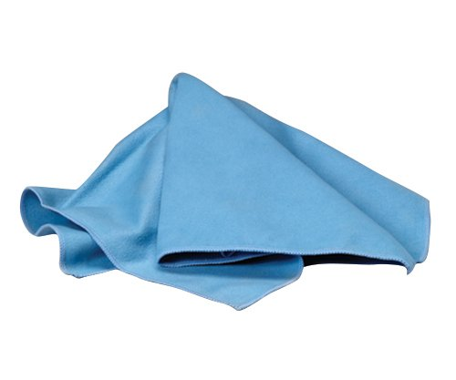 Waxie LFK100W Polyester Microfiber Suede Window Cloth, 16'' Length x 16'' Width, Blue (Case of 216)
