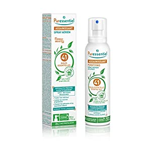 Puressentiel – Spray Aérien Assainissant aux 41 Huiles Essentielles – Efficacité prouvée contre les virus, germes et…