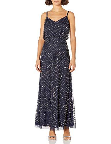 Adrianna Papell Womens  Long Blouson Dress