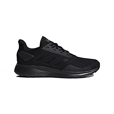 adidas Mens Duramo 9 Running Shoe Black Size: 7