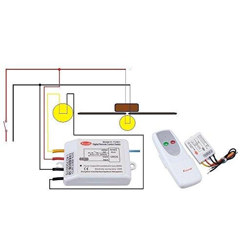 41rDcifqfCL kedsum� wireless 1 way on off digital remote control switch 110v yam ym 101 wiring diagram at n-0.co