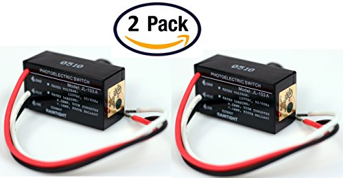Pack Of 2 Outdoor Hard Wired Post Eye Light Control Electric