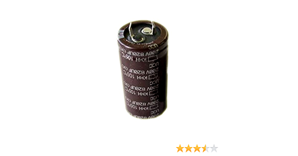 two 820uF by 200V ELECTROLYTIC CAPACITOR 40x25mm Lot of 2