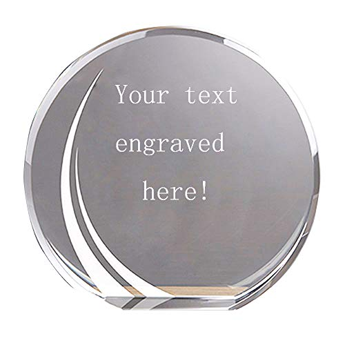 LONGWIN Personalized Crystal Awards Plaque Gift Customize Sandblasted Etched Glass Trophy for Recognition, Graduation, Appreciation, Achievement ()
