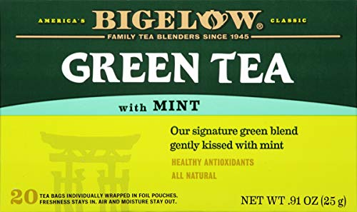 Bigelow Green Tea with Mint, 20-Count Boxes