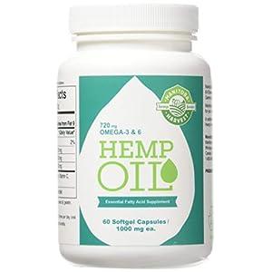Manitoba Harvest Hemp Foods Hemp Oil Soft Gels, 1,...