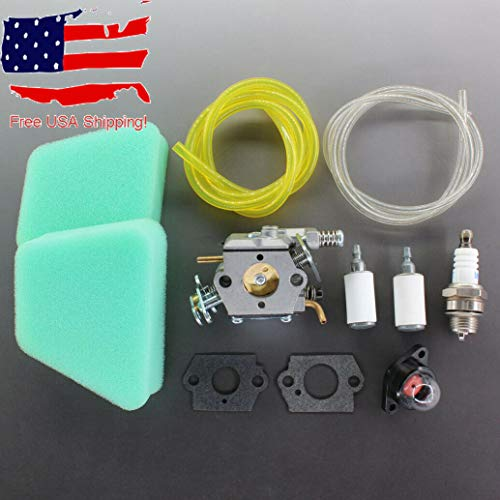 Morocca Carburetor Carb for Craftsman 18'' 42cc Chainsaw Air Filter Tune Up Kit Gasket