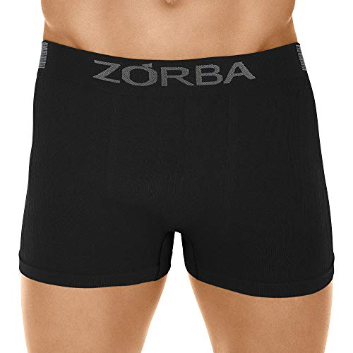 Cueca Boxer Seamless Trendy,Zorba,Masculino,Preto,P