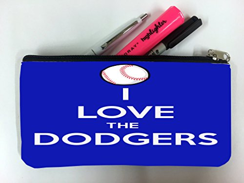 Angeles Los Pencil Dodgers (I Love The Dodgers Baseball Student Pen Pencil Case Coin Purse Pouch Cosmetic Makeup Bag)