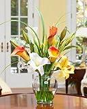 Calla & Day Lily Silk Flower Arrangement