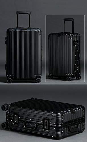 Bahaowenjuguan ハードトラベルバッグ トロリーケース スーツケース シンプル トラベルオーガナイザー ブルー 20インチ ブラック B07KQX6JSX