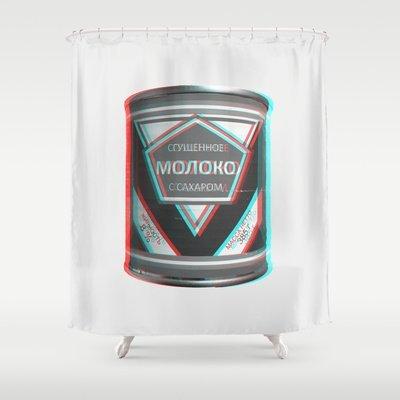 Society6 - leche condensada (sgushchennoye moloko) 3d cortina de ducha de Butenas Karolis
