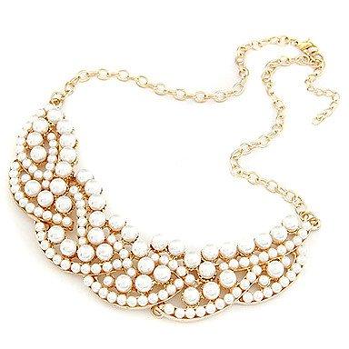 520f4833a7a9 (1 PC) del temperamento salvaje modelos de perlas falsas collar collar   Amazon.es  Joyería