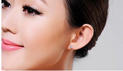 Gowe Certifié 1.0CT 100% véritable 18K Or Blanc solide Charles Mariage Boucles d'oreille à tige pour femme rond brillant Vvs G-H