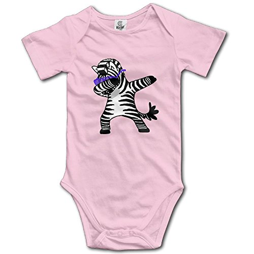 Forest Station Dabbing Zebra Short-Sleeve Baby Climbing Suit Dab Hip Hop Funny by Forest Station