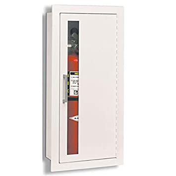 jl industries fire cabinets white fully recessed flat trim vertical duo door