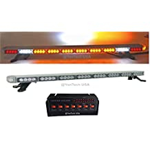 """50"""" Amber Clear Super Bright LED Light Bar Flashing Warning Tow/Plow Truck Wrecker Police Snow Plow with BRAKE AND CARGO LIGHTS"""